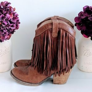 Jellypop Fringe Cowboy Boots
